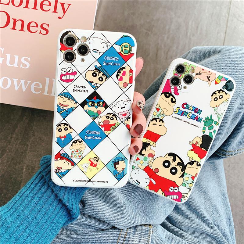 Ốp Lưng Silicone Họa Tiết Hoạt Hình Shin-Chan Thời Trang Cho Iphone7 / 8 7plus / 8plus X / Xs / Xr / Xsmax 11 / 12 11pro / 12pro 11promax / 12promax 12mini