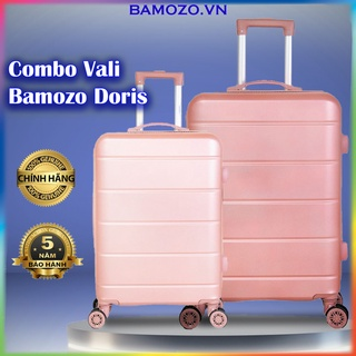 Combo Vali Kéo Nhựa Du Lịch Size 20 Inch Và 24 Inch Cao Cấp Giá Rẻ Bền Đẹp Bảo Hành 5 Năm Bamozo Doris thumbnail