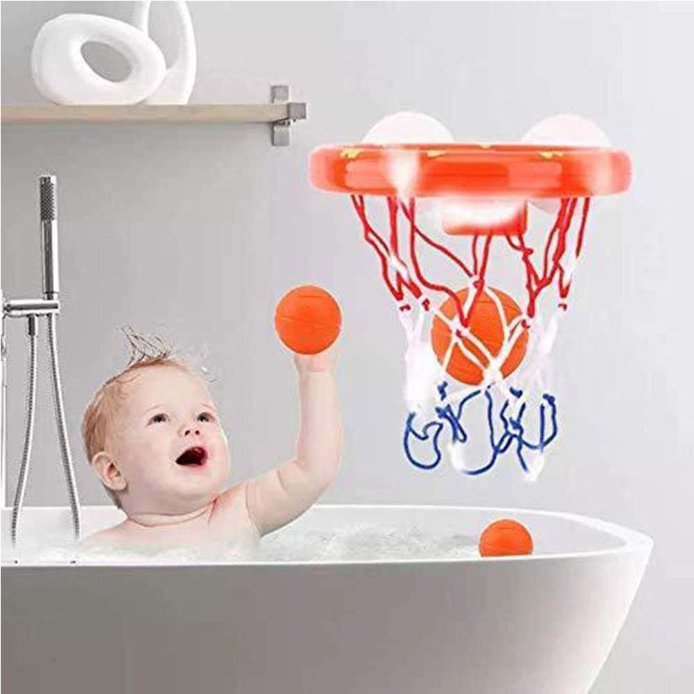 Plastic Bathtub Game Toy Set With Hoop Balls Kids Bath Toys Basketball Suctions Cups Children Mini Funny
