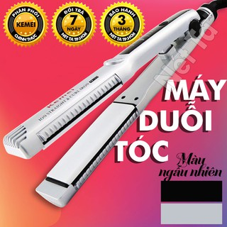 Máy duỗi tóc kemei KM-1279 có thể dùng để uốn cúp, uốn sóng, máy là tóc nhiệt độ cố đình Nét Ta may duoi toc may lam toc thumbnail
