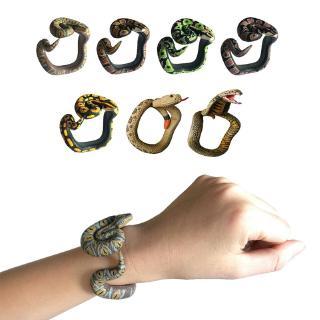 Fake Snake Resin Bracelet Novelty Toys Scary Rattlesnake Cobra Horror Funny Joke Prank Gift