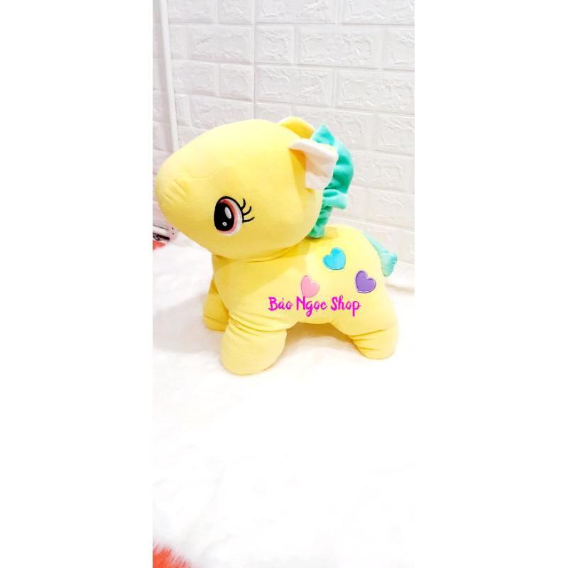 Gấu bông ngựa pony 50cm siêu đáng yêu (giao màu ngẫu nhiên vì màu nào cũng yêu😊)