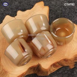 Chén sừng dùng để uống Rượu - thanh lọc giải độc và nhiệt [CTH782] HAHANCO thumbnail