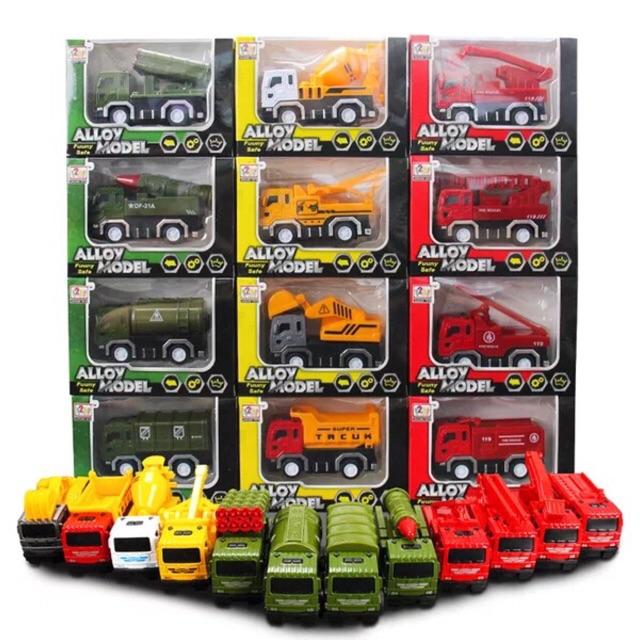 Sét 4xe mô hình chạy đà