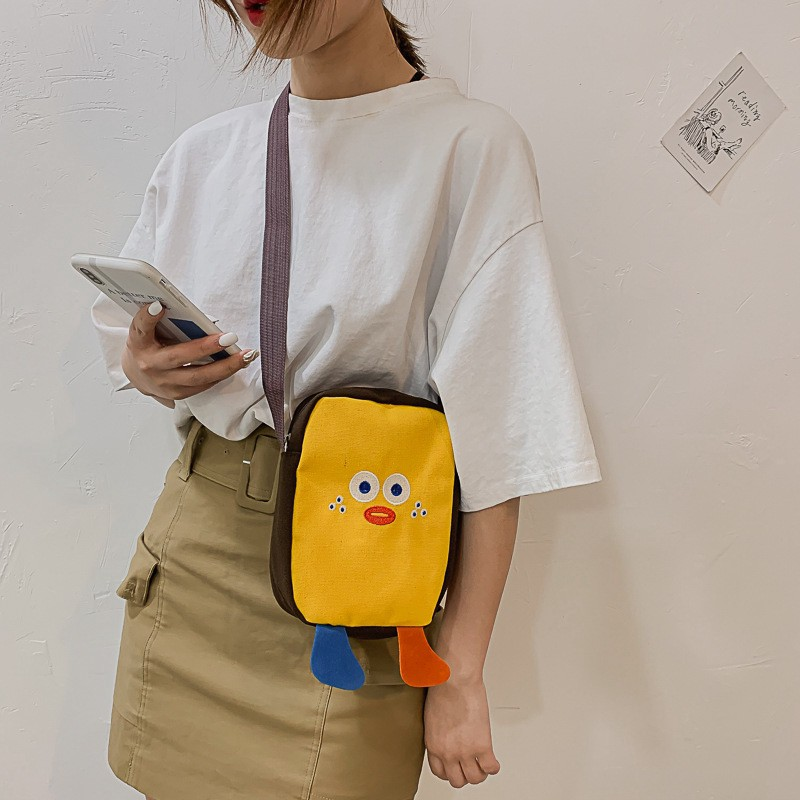 กระเป๋าสะพายลายการ์ตูนขนาดเล็ก