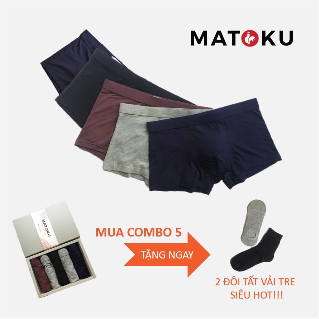 [SỊP VẢI TRE/GỖ SỒI] Combo 5 quần lót nam boxers vải Tre + Sồi (Bamboo + Modal)
