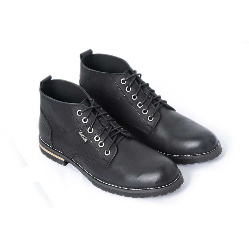Giày Da Nam Chukka Boots Smartmen GD1-09s (Đen)