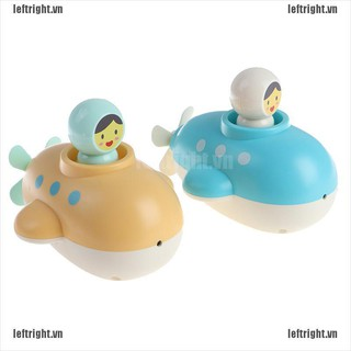 LEFT 1Pc Baby Bath Submarine Toy Kid Bathroom Education Water Toy Swimming Pool Toy VN