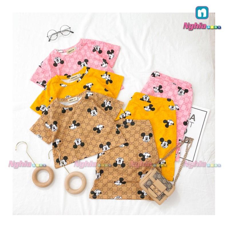 Set bộ mickey thun cotton NGHĨA BABY U73 dành cho bé gái!