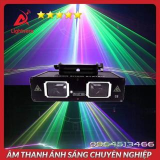 Đèn Laser Quét Tia Đèn Laser 2 Cửa 7 Màu Dành Cho Phòng Bay Phòng Karaoke Đèn Sân Khấu Lightvera