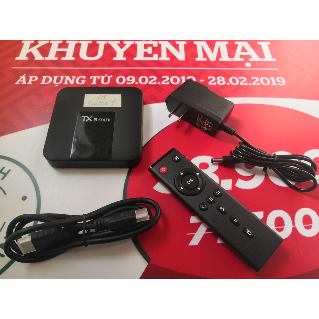 Android TV Box TX3 Mini, TX5 Mini, Ram 1GB, Rom 8GB, Android TV 9.0, tìm kiếm giọng nói