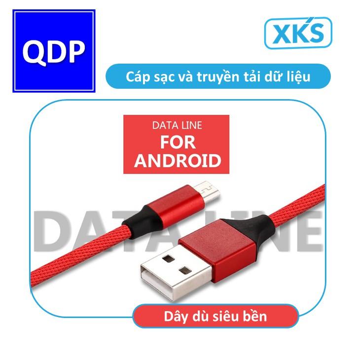 Dây dù sạc nhanh Android cổng micro-USB siêu bền XKS chính hãng