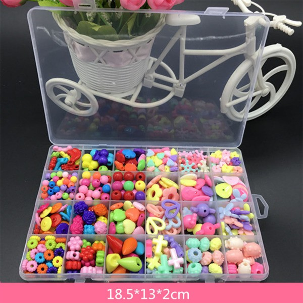 Vivid Color Plastic Toy Kids Stringing Threading Beads Toy Baby Educational DIY