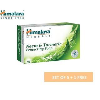 [ Mua 5 tặng 1] Set 5 xà phòng làm sạch mụn lưng giảm viêm lỗ chân lông Himalaya Neem Soap 75g/ sản phẩm