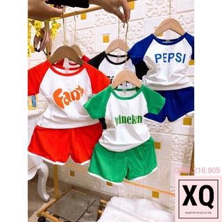 Bộ cộc tay nước ngọt siêu đáng yêu cho bé trai bé gái, set quần áo thun mặc hè trẻ em – XQ Baby Kid