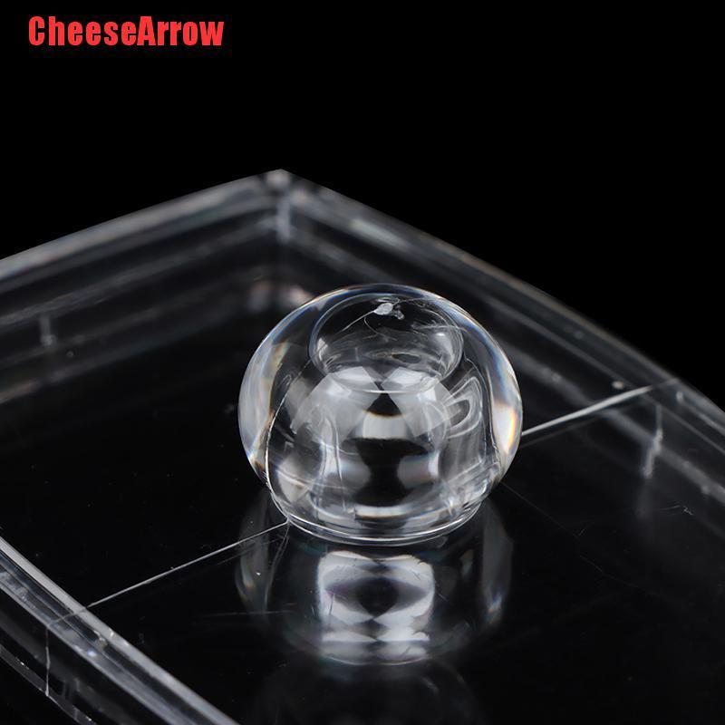 (Hàng Mới Về) Hộp Nhựa Trong Suốt Đựng Tăm Bông / Bông Tẩy Trang Tiện Dụng Ốp