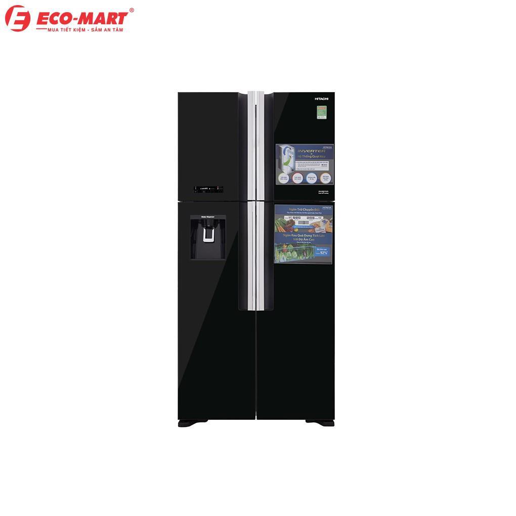 R-FW690PGV7X(GBK) Tủ lạnh Hitachi 4 cánh màu đen đá tự động
