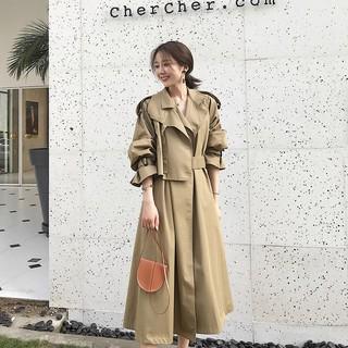 Áo khoác chắn gió dáng dài thời trang mùa thu
