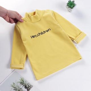 [NHIỀU MÀU] – Áo thun dài tay cổ 3 phân cho bé trai bé gái 1-7 tuổi áo thu đông dài tay xuất