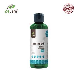 [DIỆT KHUẨN] Nước rửa tay khô tinh dầu Bạc Hà 24Care 100ML bảo vệ sức khỏe