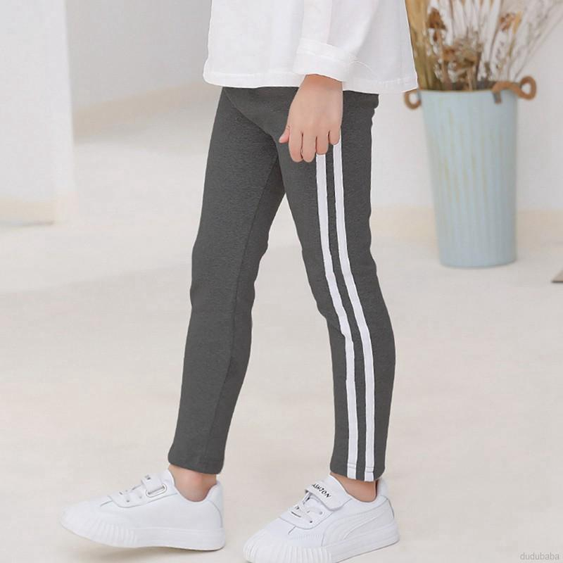 Quần legging dài bằng cotton co giãn dành cho bé gái
