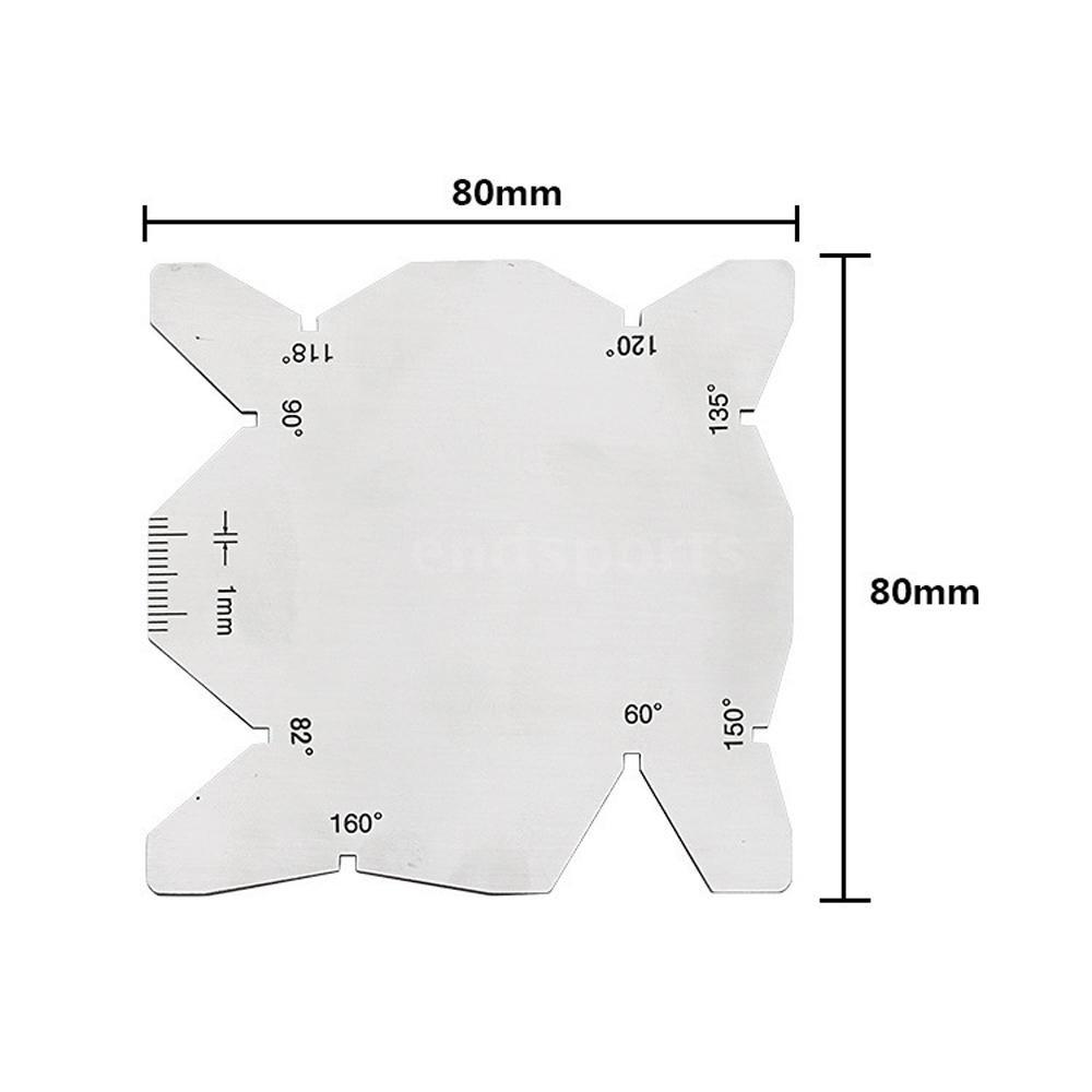 Set 3 thước đo góc bằng thép không gỉ cao cấp tiện dụng
