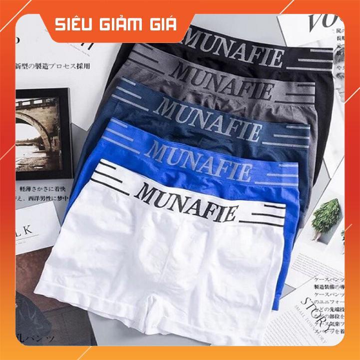 Quần Lót Nam Boxer Munafie Dệt Kim Co Giãn 4 Chiều + Túi Zip Sang Trọng