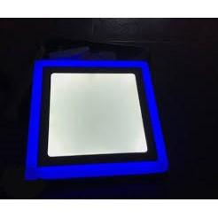 Đèn led nổi ốp trần 18w vuông 2 màu 3 chế độ ánh sáng trắng xanh dương (Bống Lốp)