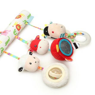 Baby Bed Stroller Car Seat Hanging Plush Farm Sheep Handbells Toys Bedding Sets