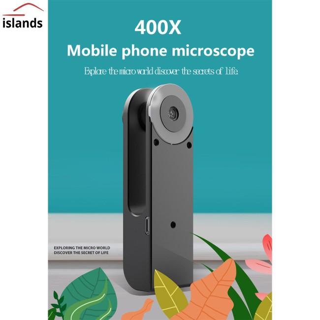 Universal Mobile Phone Universal Microscope Hd Camera Supplementary Light Lens 400X Microscope Camera Lens