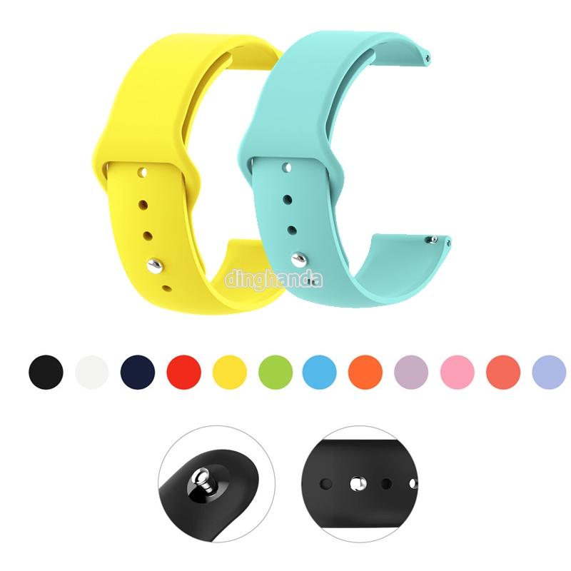 Dây đeo silicon 20mm 22mm cho đồng hồ thông minh Samsung Galaxy Huami Bip