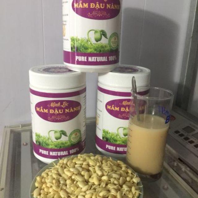 hộp 500g Mầm đậu nành nguyên chất thương hiệu Minh Lộc