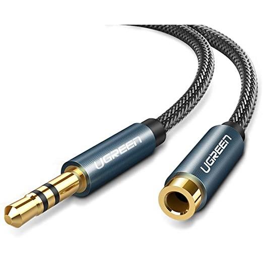 Dây AV nối dài 3.5mm Cao Cấp Ugreen 60846 60847 AV118 (đầu mạ vàng) Chính Hãng