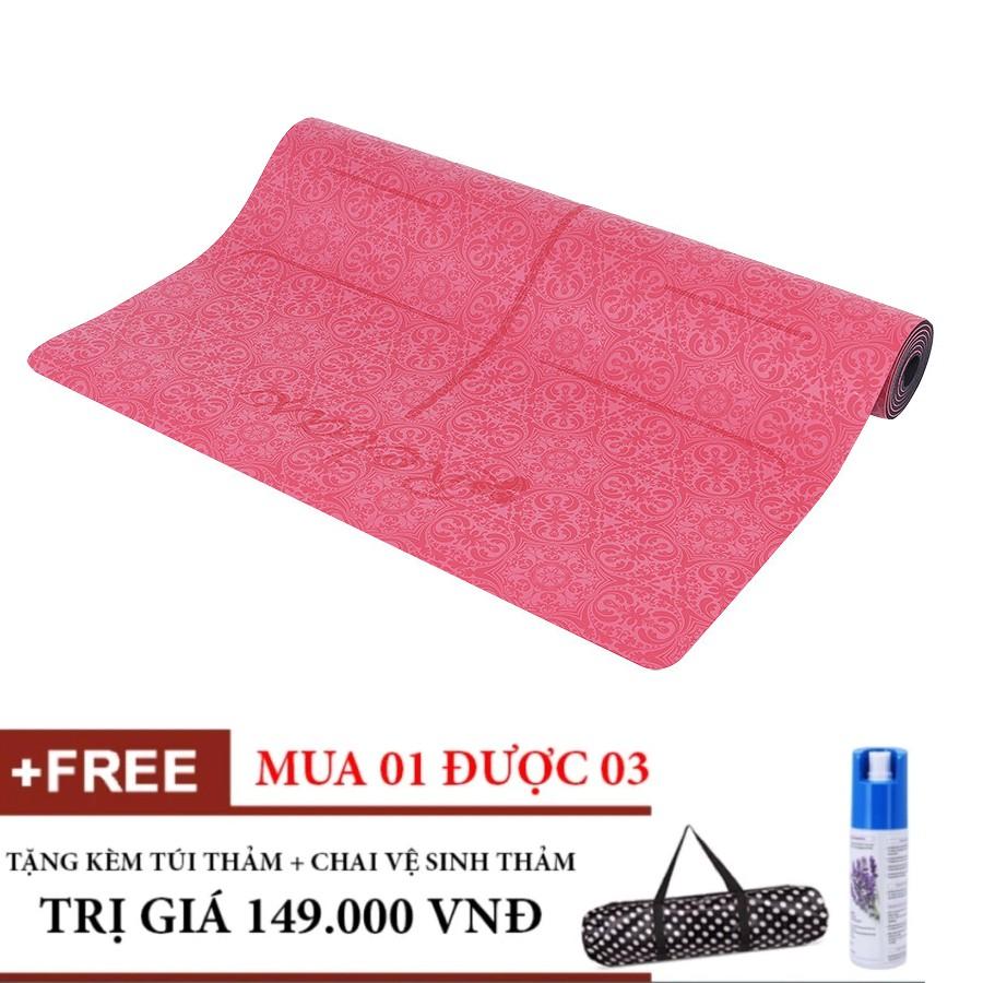 Combo Thảm Tập Yoga Định Tuyến PU cao cấp (Đỏ) Tặng túi và Chai xịt thảm - 3354327 , 1081474651 , 322_1081474651 , 2220000 , Combo-Tham-Tap-Yoga-Dinh-Tuyen-PU-cao-cap-Do-Tang-tui-va-Chai-xit-tham-322_1081474651 , shopee.vn , Combo Thảm Tập Yoga Định Tuyến PU cao cấp (Đỏ) Tặng túi và Chai xịt thảm