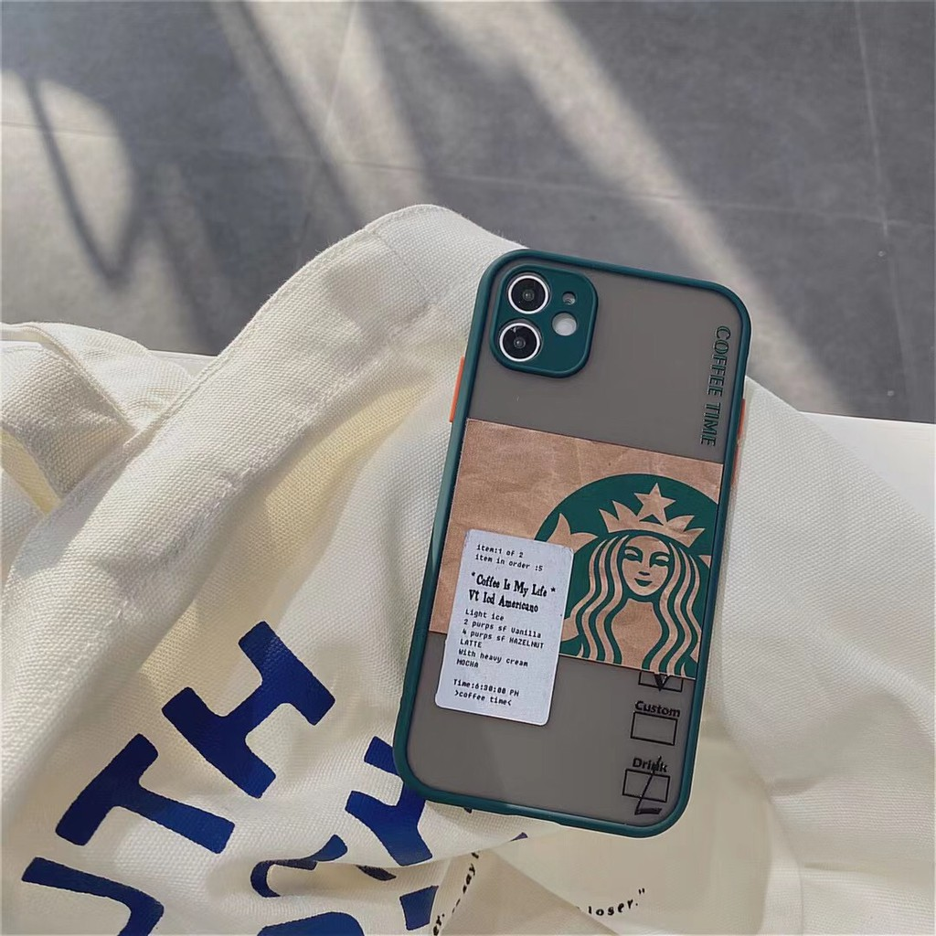 Ốp Điện Thoại In Hình Starbuck Cho Iphone12 / 12promax / 12mini / 11promax / 11 / 7plus / Xs / Xr
