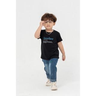 Áo thun trẻ em YODY in Brother cho bé trai mềm mịn thấm hút co dãn KID4008 thumbnail