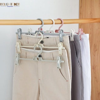 {ready} New pants folder plastic pants clip hangers can be rotated to adjust home children's adult pants trousers rack DELI