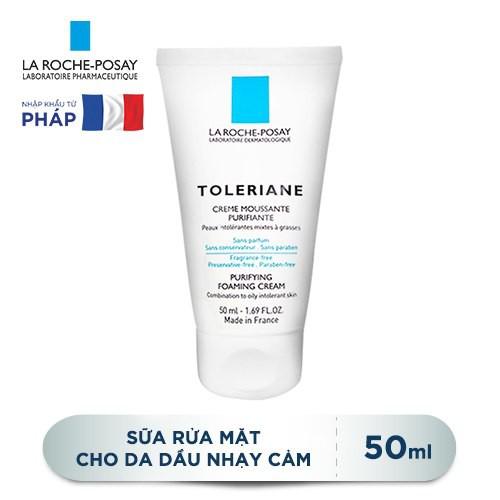 Kết quả hình ảnh cho Sữa rửa mặt Toleriane Foaming Cream La Roche-Posay (50ml)