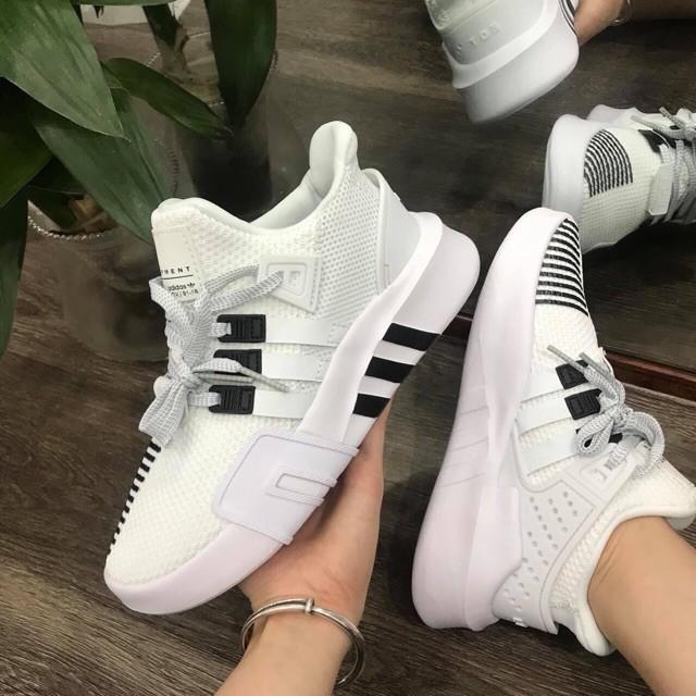 🎁FULL BOX🎁 Giày Sneaker Nam, Nữ EQT Đen Trắng Phản Quang Cao Cấp