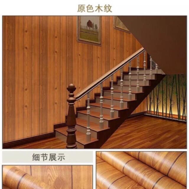 10m dán từờng giả gỗ nâu sang trọng khổ 0,45 m -= 4,5 m2