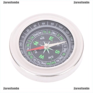 (jiarenitombn)Metal stainless steel portable compass student outdoor sports compass 76mm