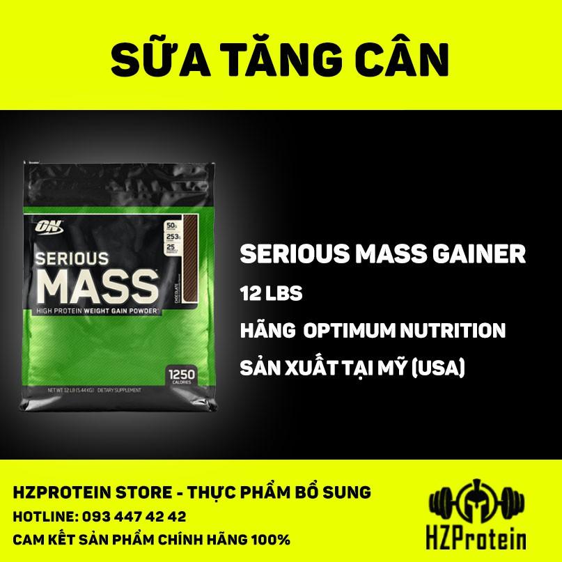 SERIOUS MASS 12lb (5,4KG) - SỮA TĂNG CÂN BỔ SUNG VITAMIN KHOÁNG CHẤT