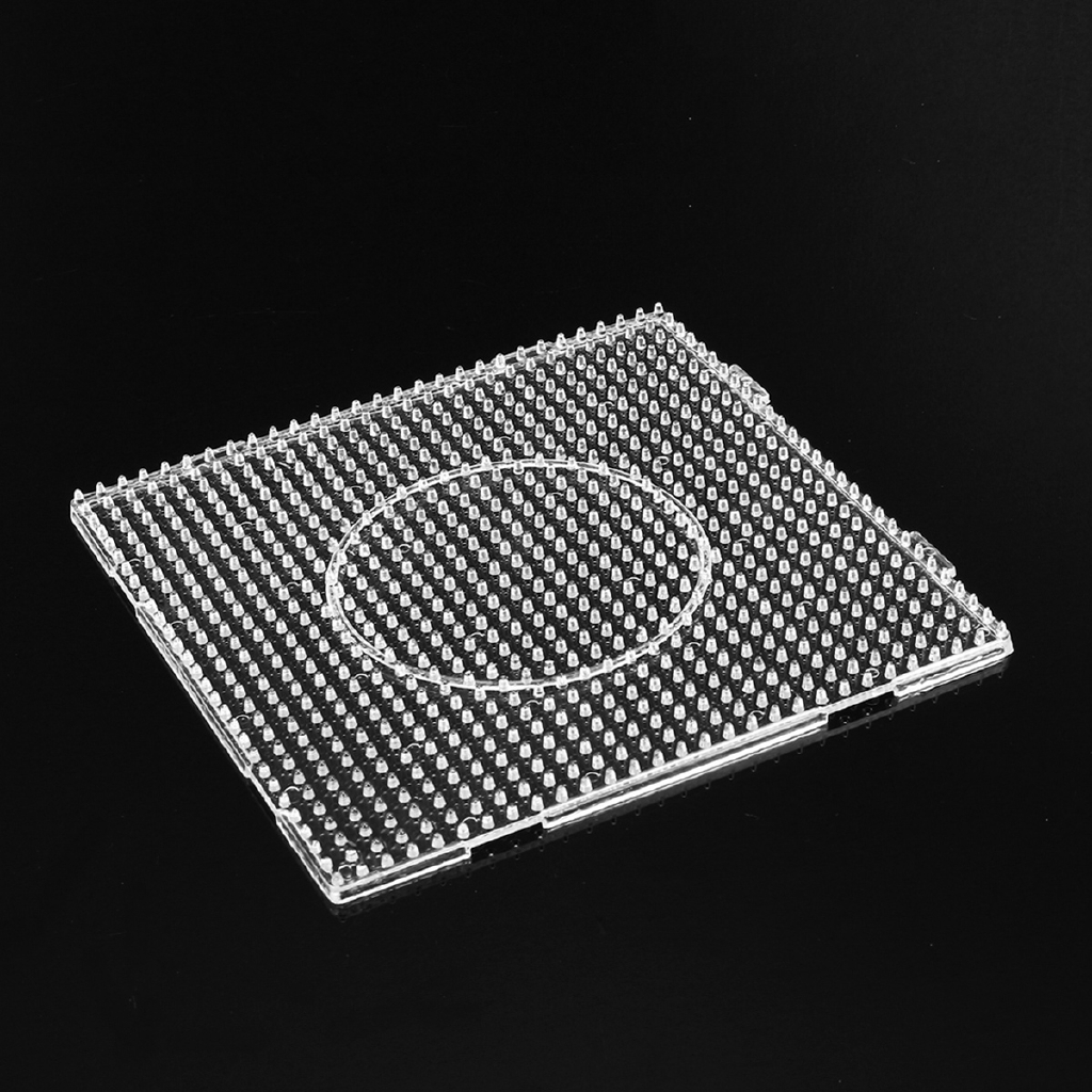 ►4Pcs Practical PE Clear Square Large Pegboards Board For Hama Fuse