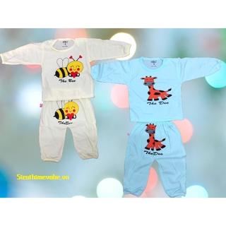 Bộ quần áo dài tay cho bé từ 0-2 tuổi, set trang phục thumbnail