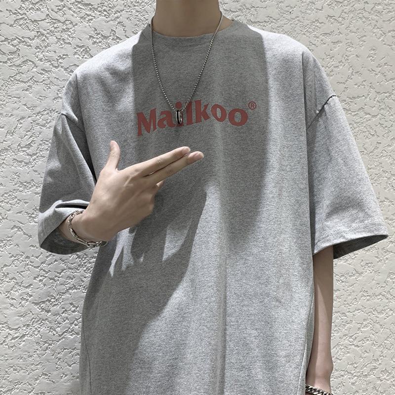 Áo thun cổ tròn tay ngắn phong cách Hàn Quốc năng động trẻ trung cho nam