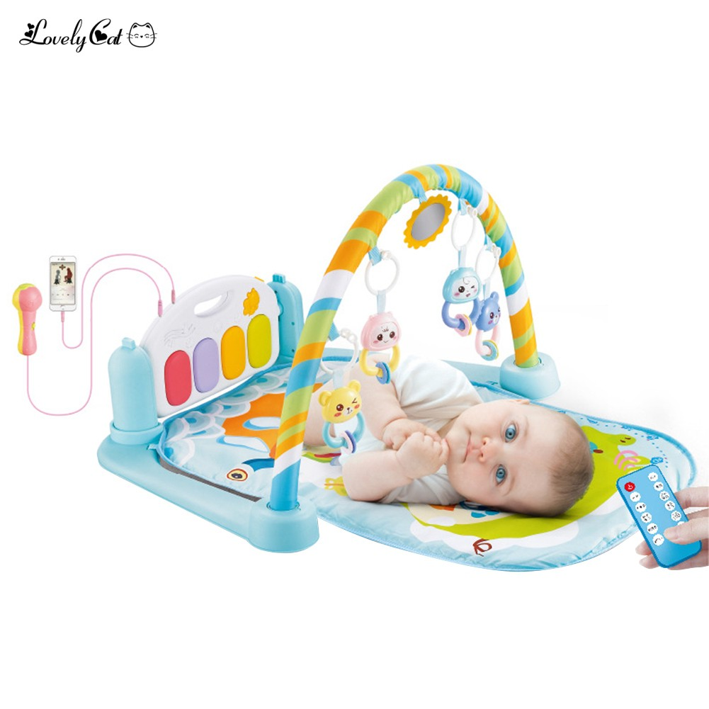 Baby Hanging Remote Control Music Rattles Carpet Toy