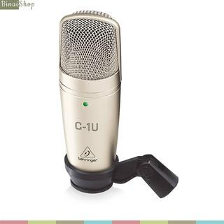 Behringer C-1U - Micro Thu Âm Condenser, Màng Thu Lớn, Kết Nối USB 2.0, Siêu Chống Nhiễu, Hướng Thu Cardioid