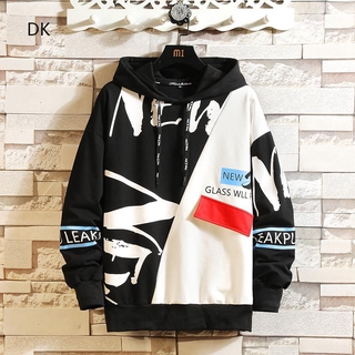 letter casual fashion Autumn Sweater suit Korean Hooded sports