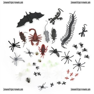 [jewelry] 44pcs Mixed Insect Reptile Scorpion Mouse Model Kids Bag gift Novelty Animal Toy [crownvn]