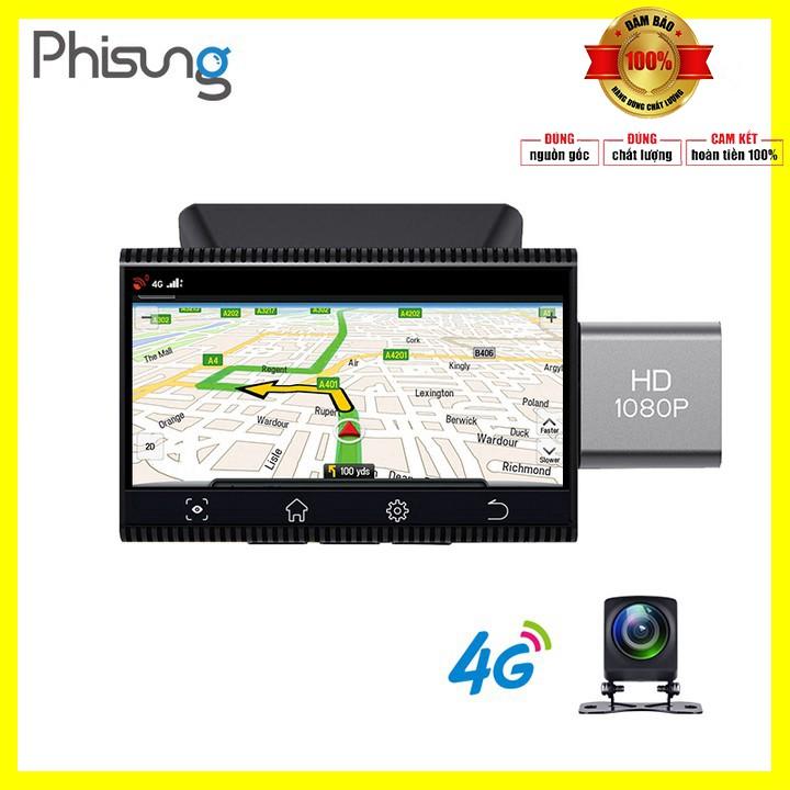 Camera hành trình thương hiệu Phisung K11 tích hợp 4G, Wifi, 3 inch, dẫn đường Navitel, Google map - Bảo hành 12 tháng